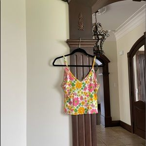 Forever 21 Floral Tank Top Size Medium
